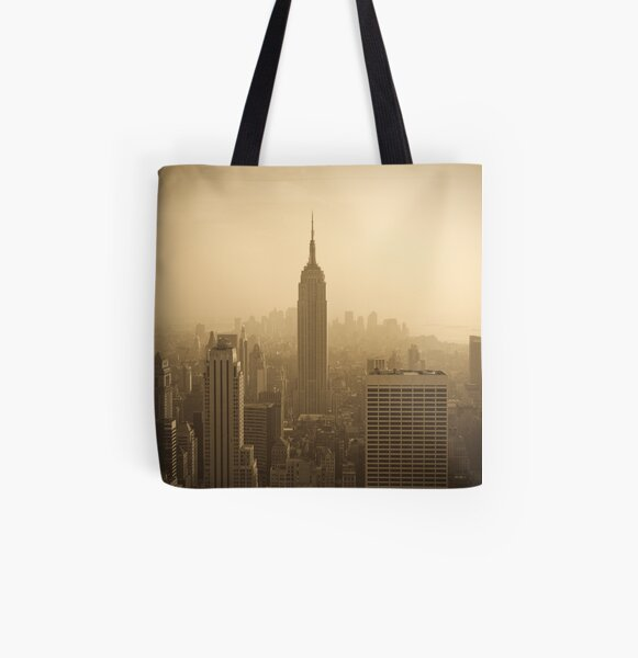 Empire State Building and Manhattan Skyline (Alan Copson ©) All Over Print Tote Bag