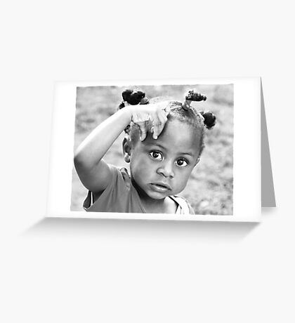 LET ME THINK. Greeting Card