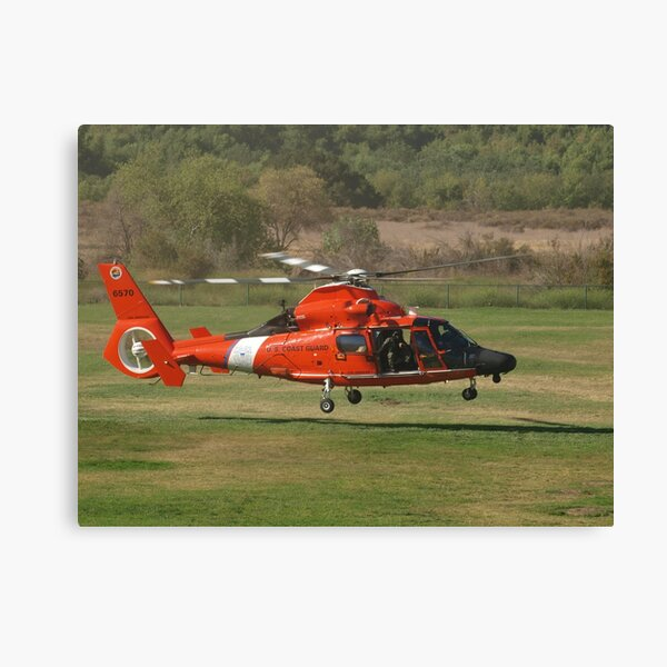 US CG 6570 Helicopter at AHAS 2015 Los Angeles Canvas Print