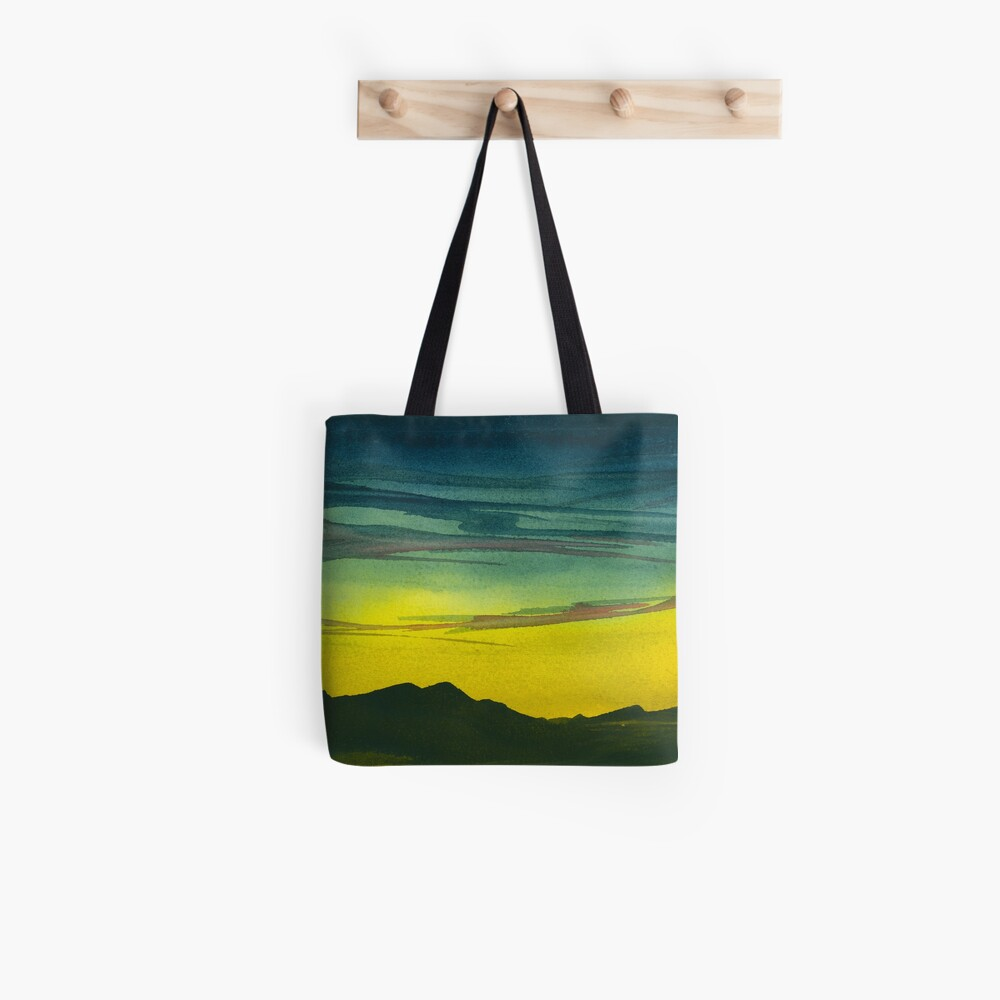 Yellow Valley Sky Tote Bag