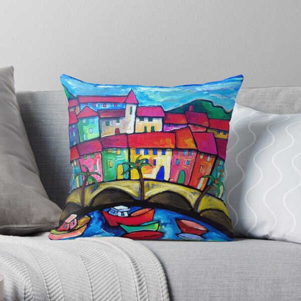MENTON  COTE  D'AZUR - FRANCE Throw Pillow