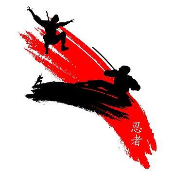 Ninjas having a sword fight.  by emirsimsek