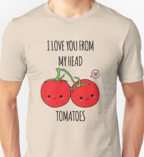 I Love You From My Head Tomatoes Slim Fit T-Shirt