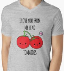 I Love You From My Head Tomatoes Men's V-Neck T-Shirt