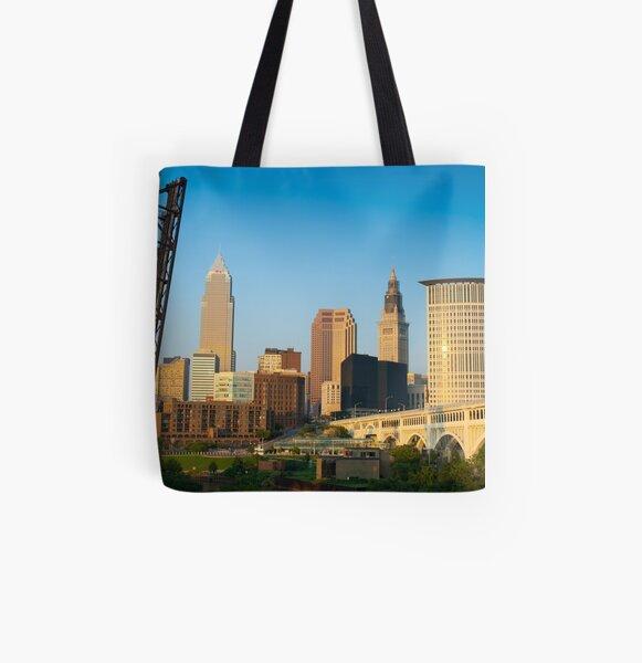 Cleveland Ohio (Alan Copson ©) All Over Print Tote Bag
