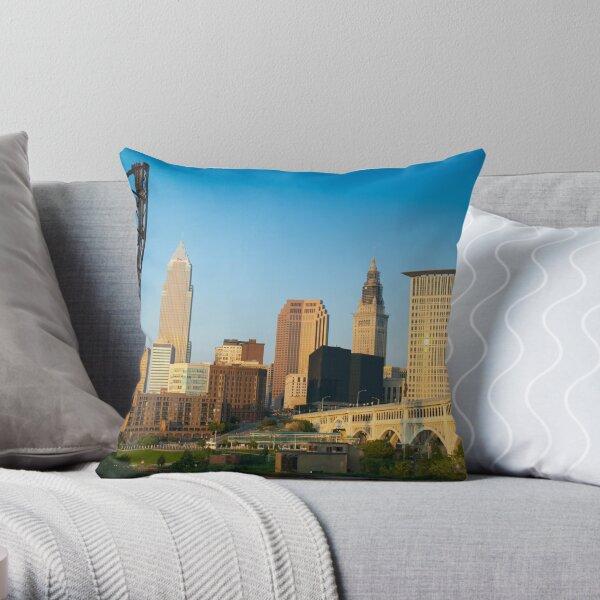 Cleveland Ohio (Alan Copson ©) Throw Pillow