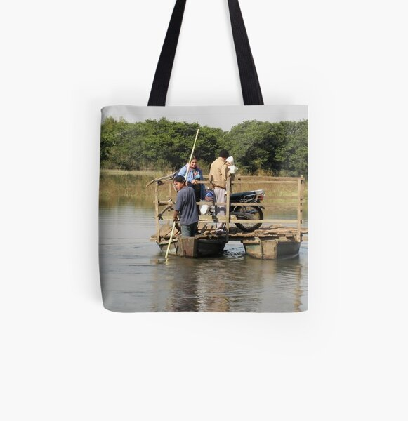 Cross the River All Over Print Tote Bag