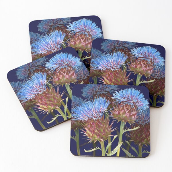 Scottish Thistle Coasters (Set of 4)
