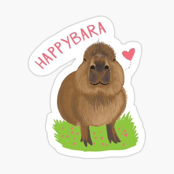 Happybara the Capybara Sticker