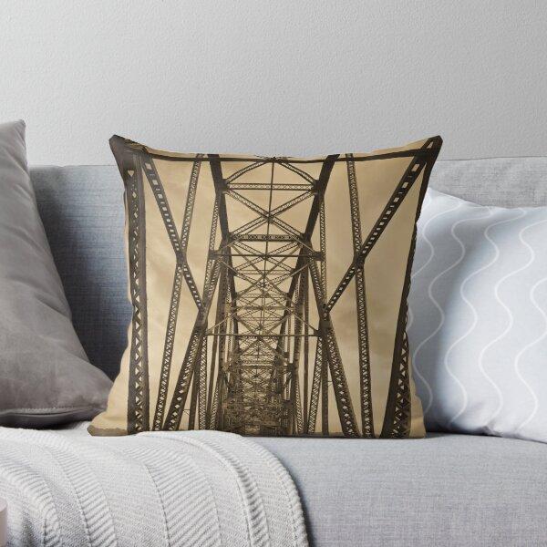 Chain of Rocks Bridge (Alan Copson ©) Throw Pillow