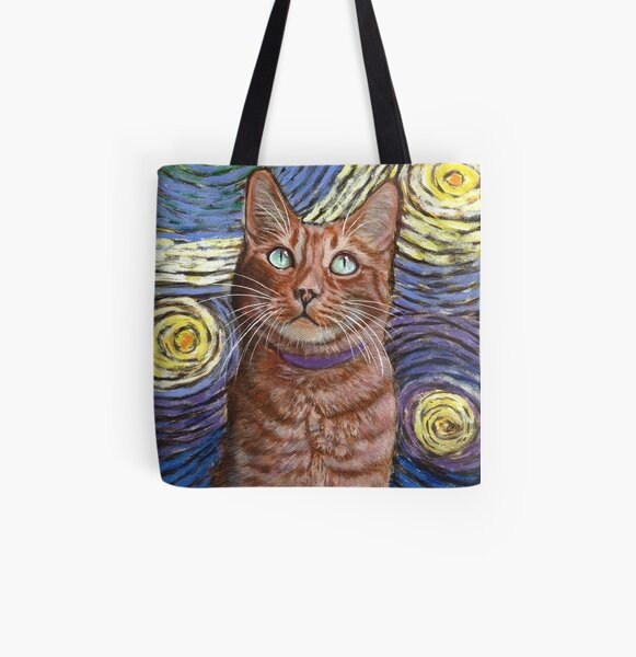 Van Gogh's Sky All Over Print Tote Bag
