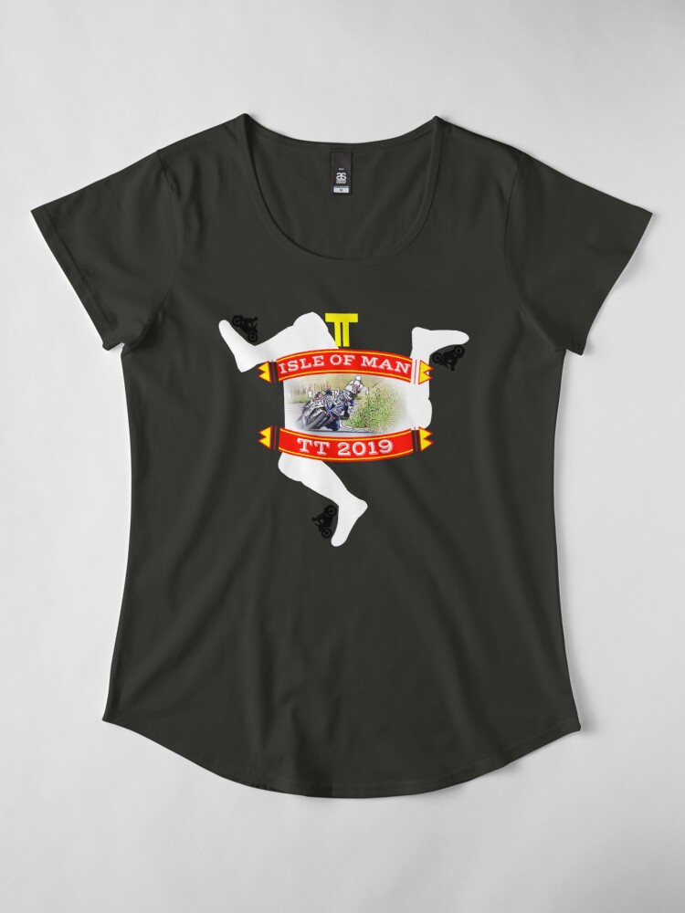 Alternate view of TT Isle of Man Premium Scoop T-Shirt