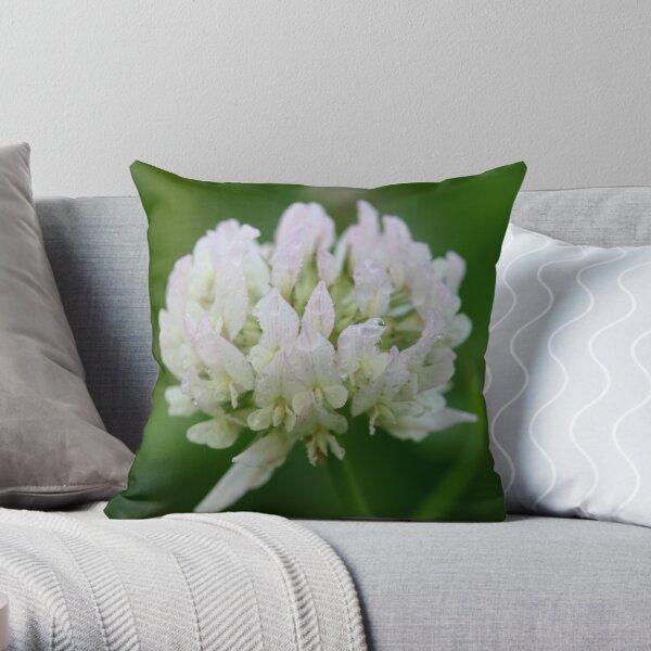 Red Clover Flower Throw Pillow