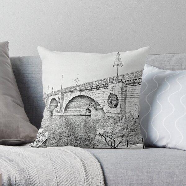 London Bridge, Lake Havasu City, Arizona  Throw Pillow