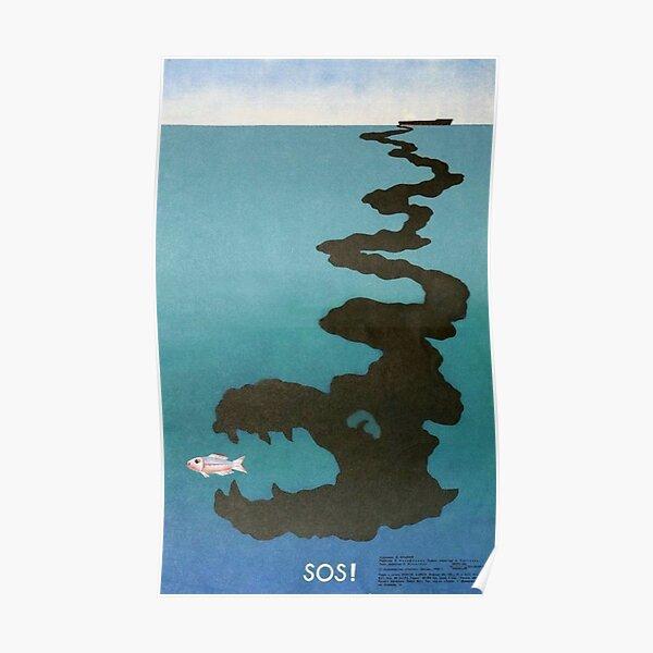"""SOS"" - sowjetisches Propagandaplakat, 1980er Jahre Poster"
