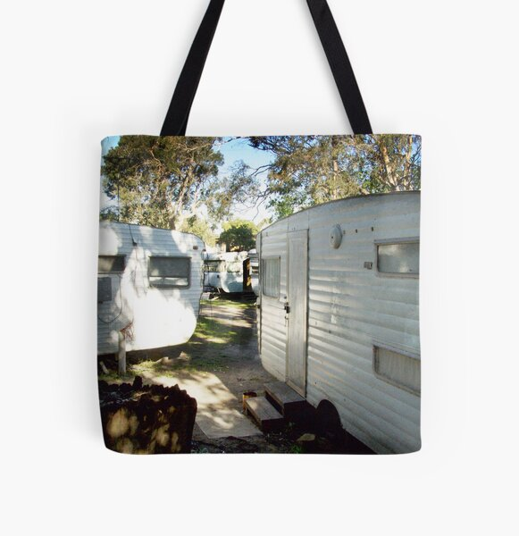 the caravan site (colour) All Over Print Tote Bag