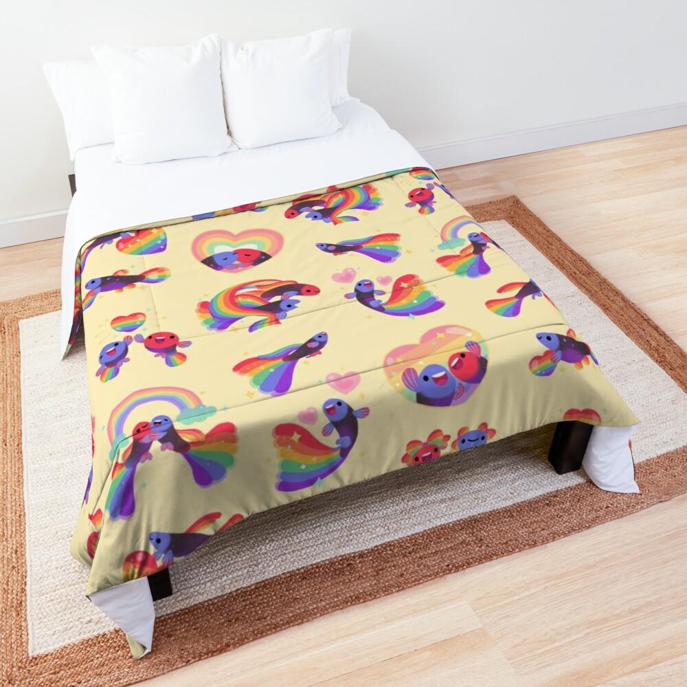 Rainbow guppy 5 Comforter