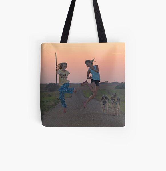 Adolescent Joy All Over Print Tote Bag