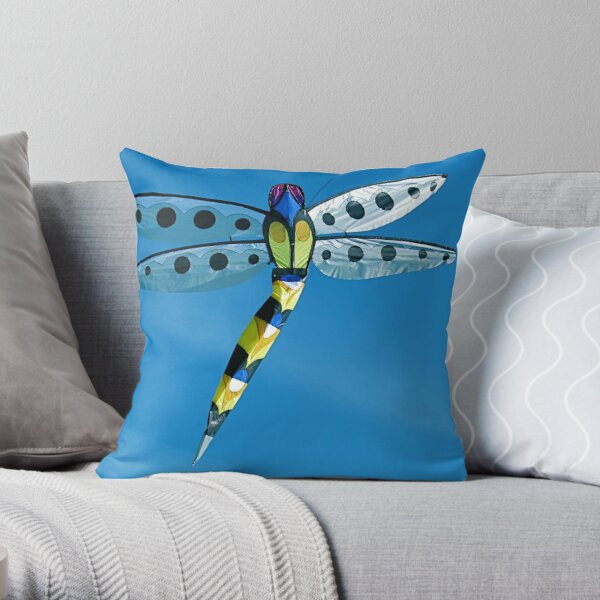 Lady Dragonfly Throw Pillow