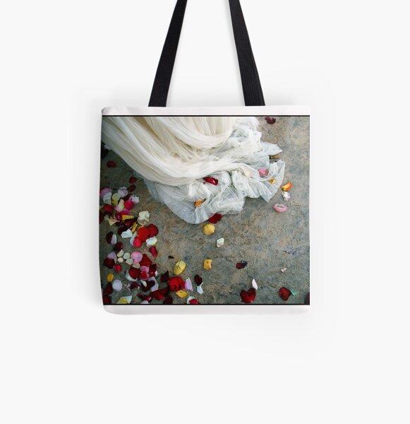 Wedding Dress Detail Dos All Over Print Tote Bag