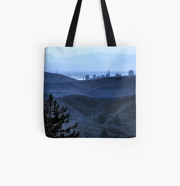 Golden Gate Silhouette All Over Print Tote Bag