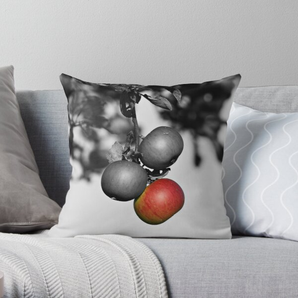 Apple a Day Keeps the Doctor Away Throw Pillow