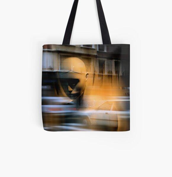 MistyGoldenMeditationInTurmoil All Over Print Tote Bag