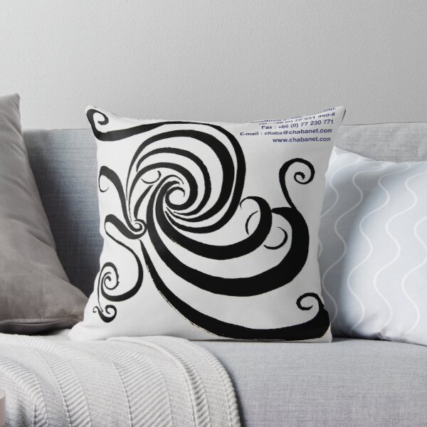 Round and round and.. oops I'm dizzy! Throw Pillow