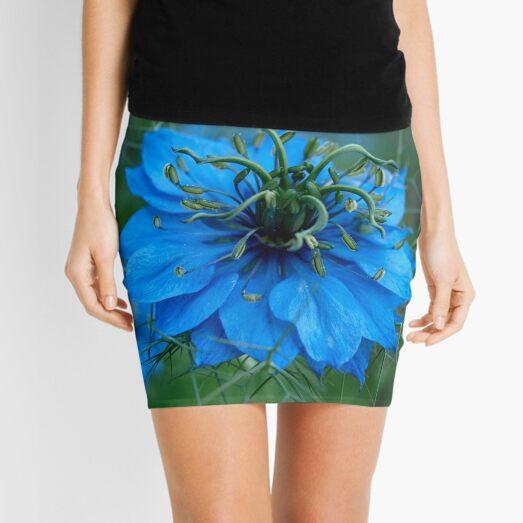 Spiky Blue Love Mini Skirt