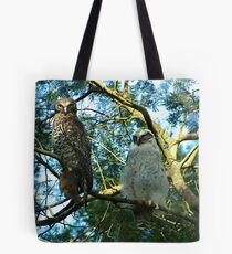 Powerful Owl Family 32 Tote Bag