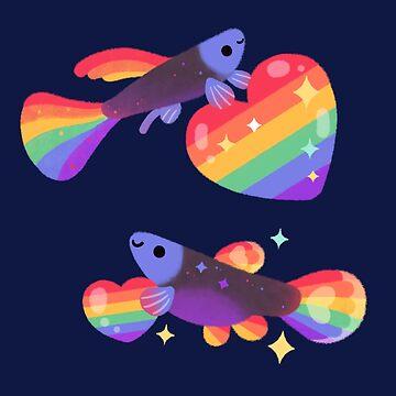 Rainbow guppy 7 by pikaole