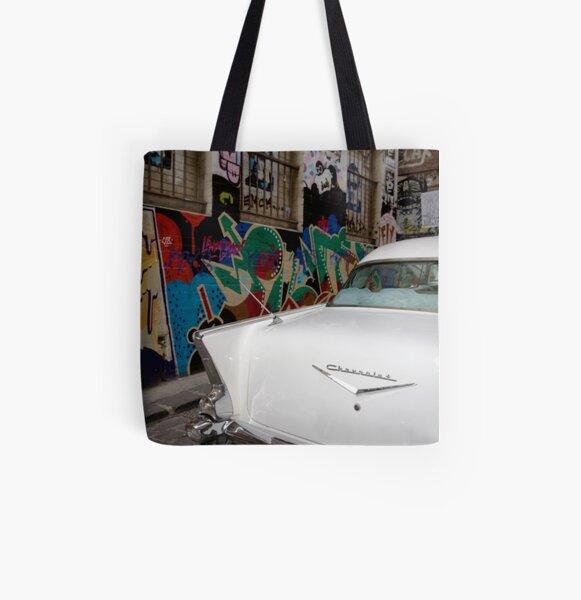 1957 CHEVROLET BEL AIR All Over Print Tote Bag