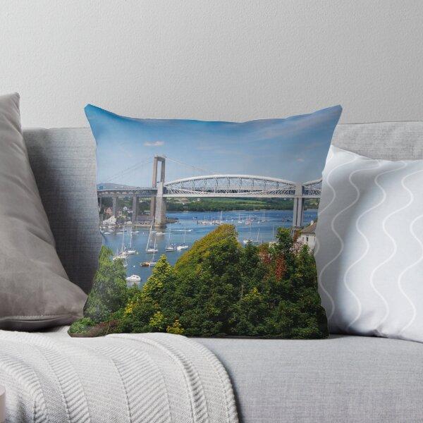 The Tamar Bridges Throw Pillow