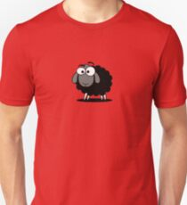 Black Sheep Cartoon Funny T-Shirt Sticker Duvet Cover Slim Fit T-Shirt