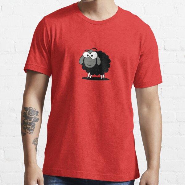 Black Sheep Cartoon Funny T-Shirt Sticker Duvet Cover Essential T-Shirt