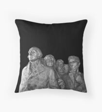 Mount Rushmore National Memorial Scale Model Throw Pillow