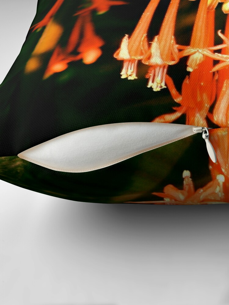 Alternate view of Tropical Flowers Throw Pillow