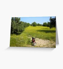 Solitare Cycle Greeting Card