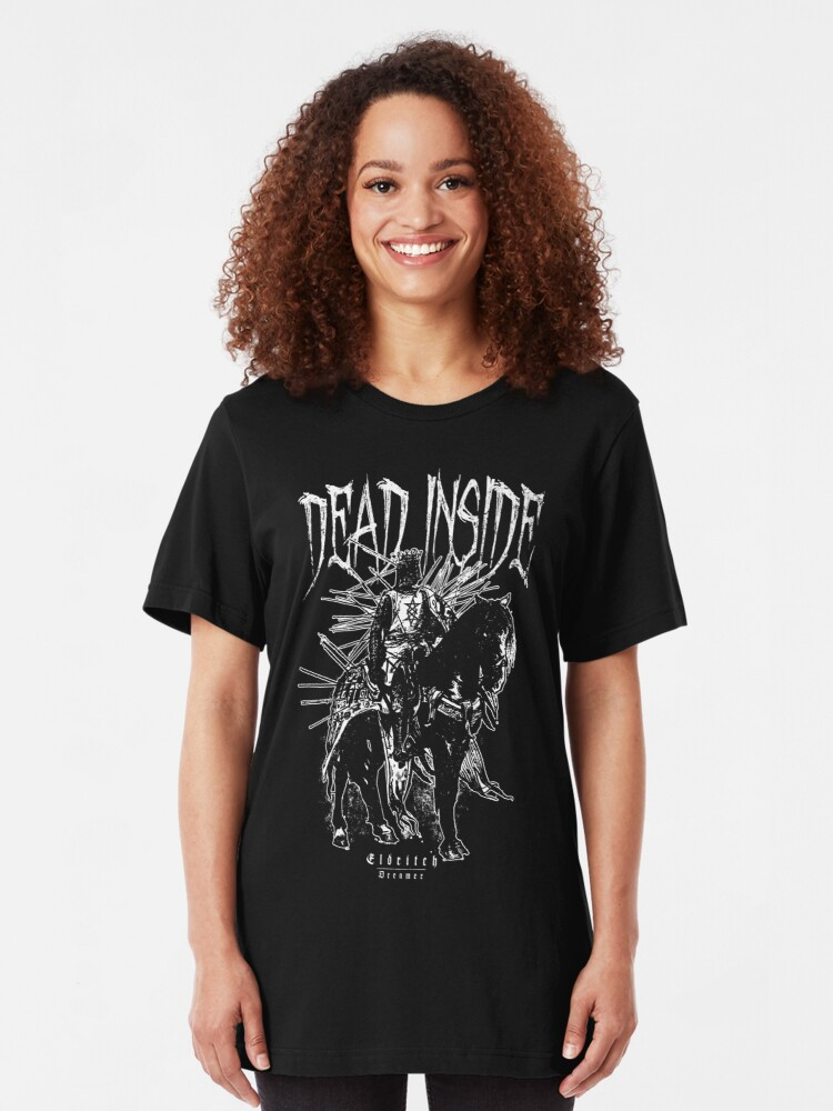 Alternate view of Dead inside - Knight - Eldritch Dreamer - Lovecraftian Cthulhu mythos wear Slim Fit T-Shirt