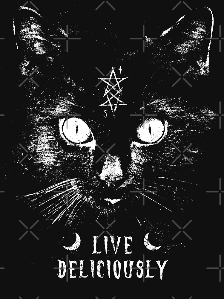 Live deliciously - Witch - Cat - Eldritch Dreamer - Lovecraftian Cthulhu mythos wear by eldritchdreamer