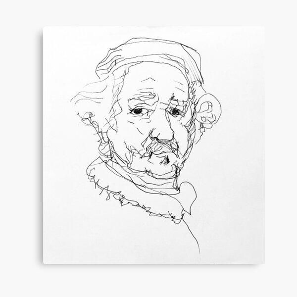 Rembrandt Sketch Canvas Print