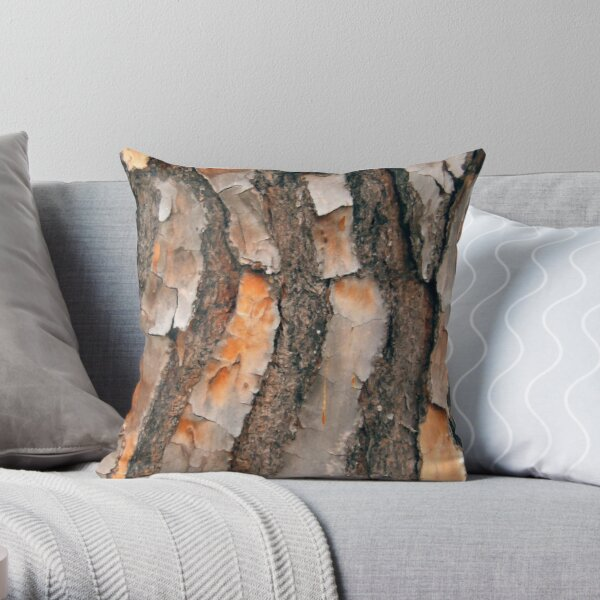 Scots Pine - in colour Throw Pillow