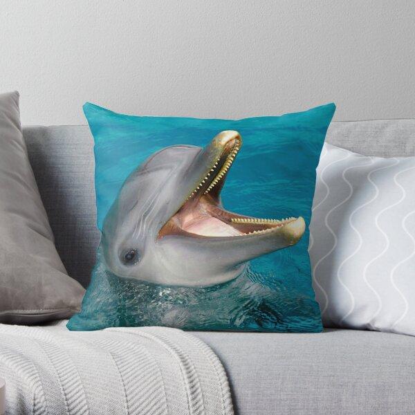 Dolphin smile Throw Pillow