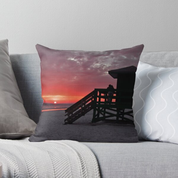 Lovers at Sunset Throw Pillow