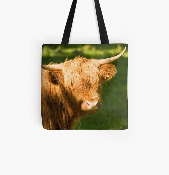 Highland Cow All Over Print Tote Bag