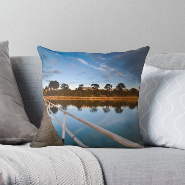 The Late Pier Throw Pillow