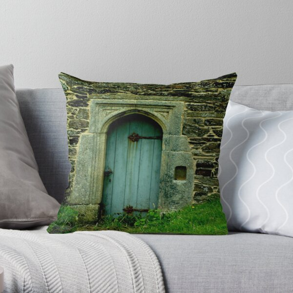 Gunwalloe Church Tower. Throw Pillow