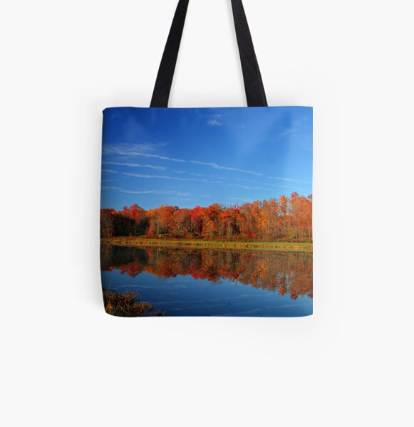 Red Autumn All Over Print Tote Bag