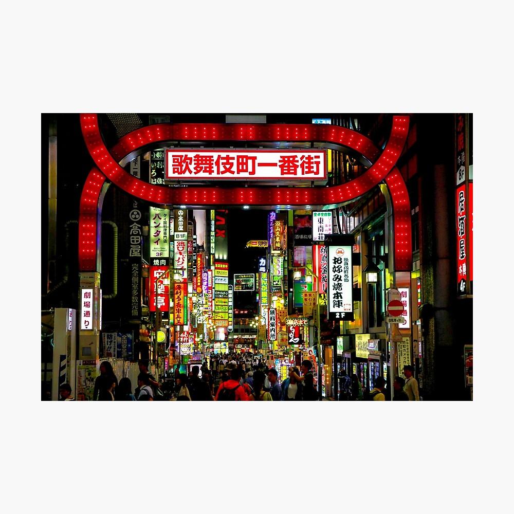 Kabukicho Shinjuku Tokyo Fotodruck