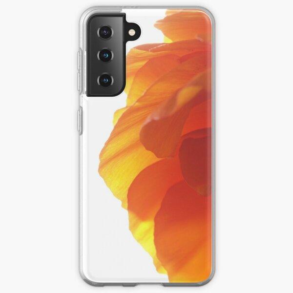 Orange ranunculus flower 2 Samsung Galaxy Soft Case